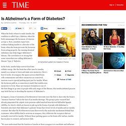Is Alzheimer's a Form of Diabetes?