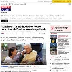 Alzheimer : la méthode Montessori pour rétablir l'autonomie des patients