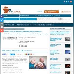 Alzheimer : de la recherche aux problématiques du quotidien