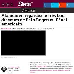 Alzheimer: regardez le très bon discours de Seth Rogen au Sénat américain