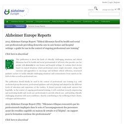 Alzheimer Europe Reports - Publications - Alzheimer Europe