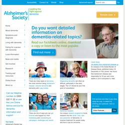 Alzheimer's Society - Leading the fight against dementia