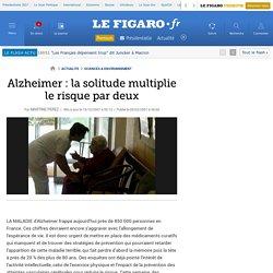 Alzheimer : la solitude multiplie le risque par deux
