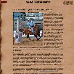 Am I a real Cowboy?