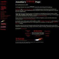 Amadán's In Nomine Page