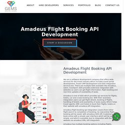 Amadeus Flight Booking API Development - Travel CRM Development