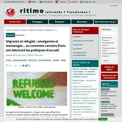 dossier infos Ritimo - Migrants et réfugiés : amalgames et mensonges...