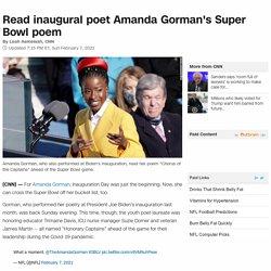 Amanda Gorman's Super Bowl poem: Read it here