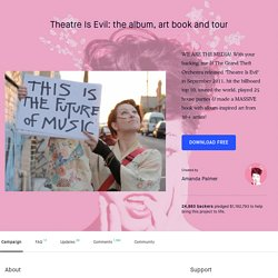 Amanda Palmer: The new RECORD, ART BOOK, and TOUR by Amanda Palmer