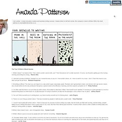 Amanda Patterson (The Top 10 Writers Block Quotes 1. Writer's...)