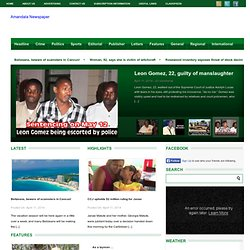 Belize News - Belize Leading Newspaper | Breaking News - Amandala Online