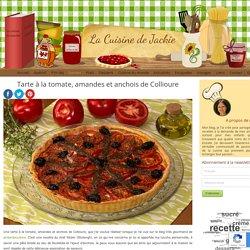 Tarte à la tomate, amandes et anchois de Collioure