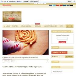 Crème d'amandes pour tarte & galette (recette facile)