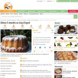 Gâteau d' amandes au sirop d'orgeat, Recette Ptitchef