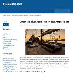 Amandira Liveaboard Trip to Raja Ampat Island