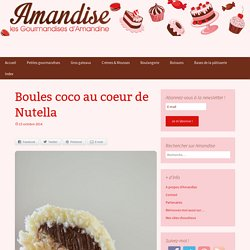 Boules coco au coeur de Nutella