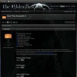 Hunt The Amaranth X - Elder Scrolls Lore