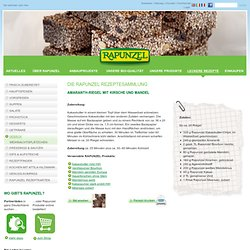 Bio-Rezept: Amaranth-Riegel mit Kirsche und Mandel - RAPUNZEL NATURKOST