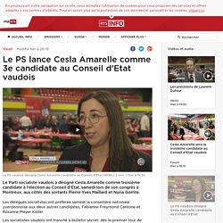 Le PS lance Cesla Amarelle comme 3e candidate au Conseil d'Etat vaudois - rts.ch - Vaud
