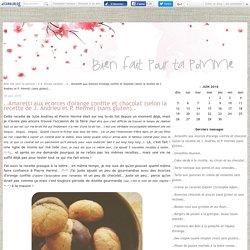 ..Amaretti aux écorces d'orange confite et chocolat (selon la recette de J. Andrieu et P. Hermé) (sans gluten).. - Bien fait pour ta pomme !