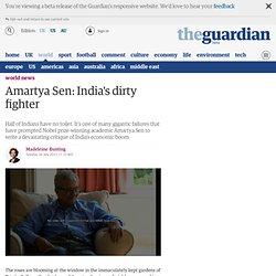 Amartya Sen: India's dirty fighter
