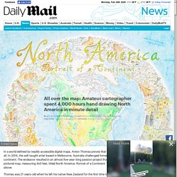 Amateur cartographer spent 4,000 hours hand drawing North America in minute detail
