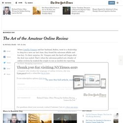 The Art of the Amateur Online Review