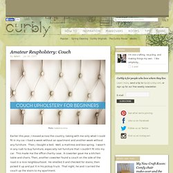 DIY Design Community « Keywords: reupholstery, couch, upholstery