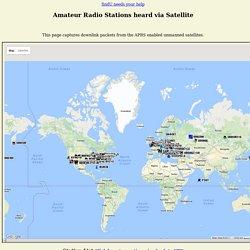 Amateur Radio Stations heard via Satellite