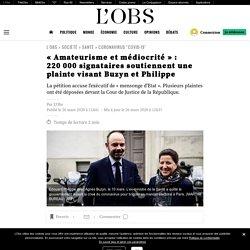 «Amateurisme et médiocrité»: 220000 signataires soutiennent une plainte visant Buzyn et Philippe
