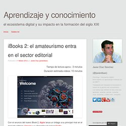 iBooks 2: el amateurismo entra en el sector editorial