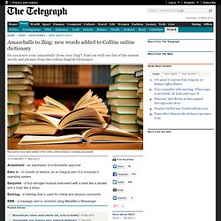 Amazeballs to Zing: new words added to Collins online dictionary