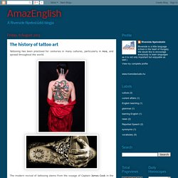 AmazEnglish: The history of tattoo art