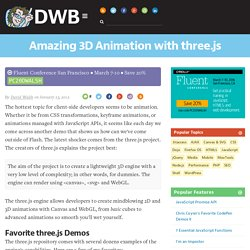 Amazing 3D Animation with three.js
