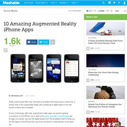 10 Amazing Augmented Reality iPhone Apps