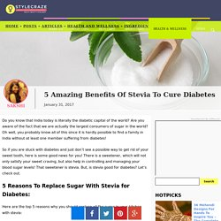 5 Amazing Benefits Of Stevia To Cure Diabetes