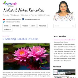 9 Amazing Benefits Of Lotus