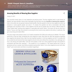 Amazing Benefits of Wearing Blue Sapphire