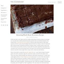 Amazing Black Bean Brownies Recipe