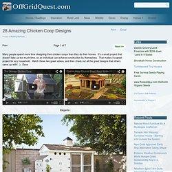 28 Amazing Chicken Coop Designs