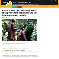 Earth Day: Eight amazing facts that prove tribal people are the best conservationists