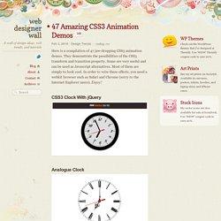 47 Amazing CSS3 Animation Demos