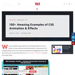 150 Amazing Examples of CSS Animation & Effects