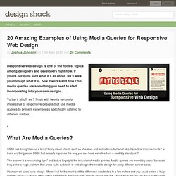 20 Amazing Examples of Using Media Queries for Responsive Web Design