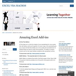 Amazing Excel Add-ins