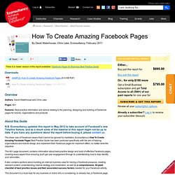 How To Create Amazing Facebook Pages