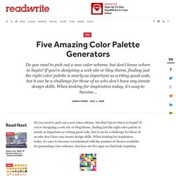 Five Amazing Color Palette Generators - ReadWriteWeb