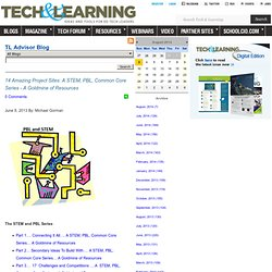 - 14 Amazing Project Sites: A STEM, PBL, Common Core Series - A Goldmine of Resources
