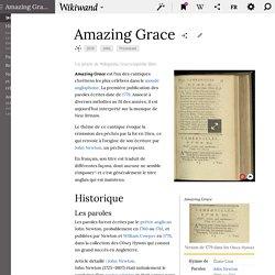 AMAZING GRACE (Article Wiki)