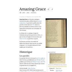 Amazing grace - liste des reprises